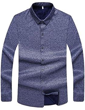 Camisa De Los Hombres Invierno Más El Terciopelo Grueso Camisa Camisa Sólida Camisa De Manga Larga
