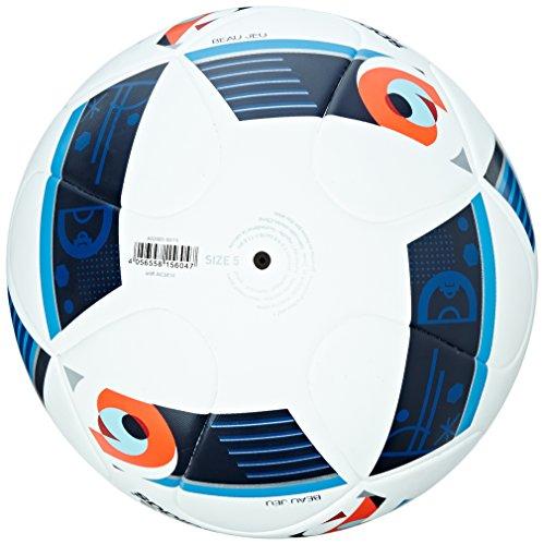 adidas Euro 16 Top R X Football - White Bright Blue Night Indigo  Size 5
