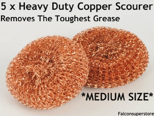 5-x-heavy-dutymetal-copper-scourers-medium-free-uk-post-tough-grease-copper-scrubber-metal-scouring-