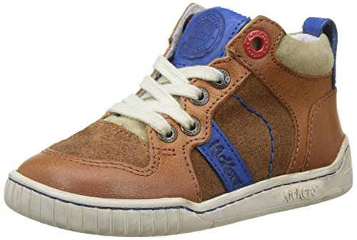 Kickers Winforce, Baskets Hautes Garçon Marron (Camel Bleu)