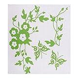 Homyl Blumen Wasserdichter Toilettendeckel Toilettensitz Aufkleber, WC Sitz Tatoo Stickers Deko - Grün