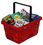 Tanner 4012.8 - Supermarkt Korb gefüllt mit Markenminiaturen, Kaufläden und Zubehör