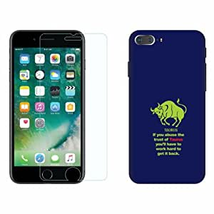 Printland Tempered Glass + Back Cover Combo For Apple iPhone 7 Plus