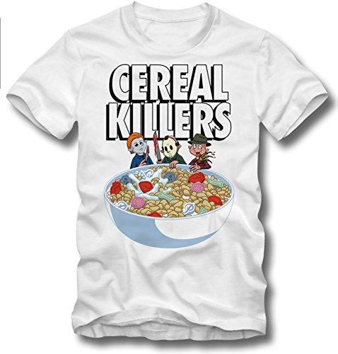 URBAN KULT T Shirt Cereal Serial Killers Jason Vorhees Mike Myers Freddy Kruger, XL