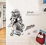 Adesivo murale personalizzato per porta della stanza dei bambini Cavalcata Animali Ingresso Corridoio Comodino Stanze per bambini Adesivi murali d'arte