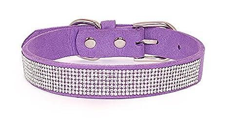 Reopet Bling Dog Collar - Sparkly Rhinestone Studded Small & Medium Dog & Kitty Collar - 3/4