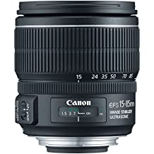 Canon EF-S 15-85mm f/3.5-5.6 IS USM Negro - Objetivo (17/12, 0,35 m, 3,5 - 5,6, 15 - 85 mm, 24 - 136 mm, 74°)