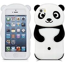 kwmobile FUNDA DE SILICONA Diseño panda para Apple iPhone SE / 5 / 5S - Un diseño elegante y una protección óptima