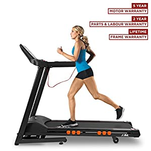 51AJfaJlo%2BL. SS300  - JLL T350 Digital Folding Treadmill, 2019 New Generation Digital Control 4.5HP Motor, 20 Incline Levels,0.3km/h to 18km/h, 20 Programmes, Bluetooth & Speakers, 2-Year Parts&Labour,5-Year Motor Cover