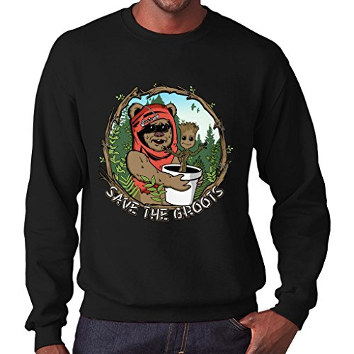 (Save The Groots Star Wars Guardians of The Galaxy Men's Sweatshirt)