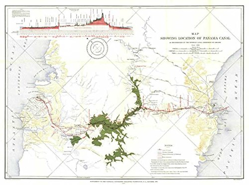Reproduktion eines Poster Präsentation-Central America-Panama Canal (1905)-61x 81,3cm Poster Prints Online kaufen