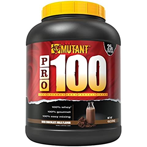 Mutant PRO 100 Whey, Delicious High Quality Gourmet Protein Powder, Rich Chocolate Milk, 4 Pound by