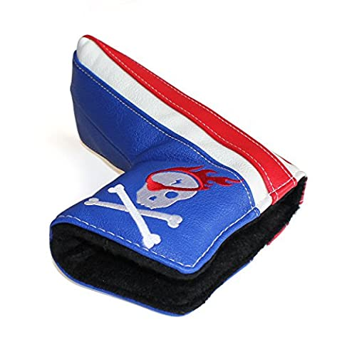 CRAFTSMAN GOLF Skull Pirate White Blue Red Blade Putter Cover Headcover Magnetic Closure For Scotty Cameron Taylormade
