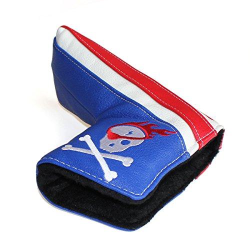 Pirata con teschio, colore: bianco, Blu, Rosso, Copritesta per Putter, Scotty Cameron-Chiusura magnetica per Taylormade Odyssey