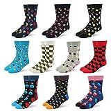 RioRiva Socken herren | Gemustert und gefärbt | Feine Baumwolle | Beruf Anzug Freizeit Funny | Ringelsocken kariert gepunktet | Gift-oder Mehrfachpack (BSK58-10 Paare Mehrfarbig, EU 41-46/UK 8-12)