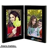 Snapgalaxy Double Folding Picture Frames 5x7, Black Portrait - Best Reviews Guide