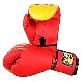 Premium Gants de boxe MMA Muay Thai entraînement pour Fighters–Rouge Flamme