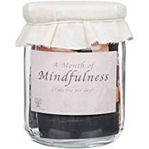 Mindfulness Gift: Rustic jar full of daily mindful tasks and challenges.