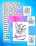 Pour la France en français Beau livre à colorier Utiliser comme cartes de voeux Bouquets de fleurs florales Activité amusante pour Toutes les ... un message ici amour Par artiste Grace Divine