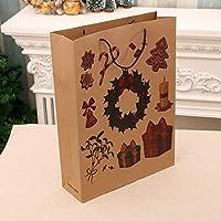 prbll Bag Gift Bag Christmas Tote Bag, Kraft Paper Bag Large Package Red Wine Bag Clothes Bag, 85g 10 * 32 * 45cm large