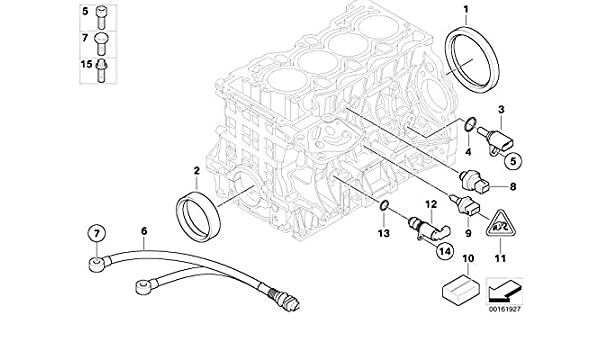 Bmw Genuine Engine System Oil Pressure Sensor Switch 12617549796