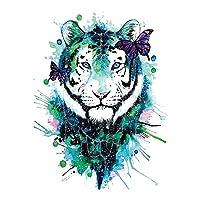 BESTPICKS Large Waterproof Fashion Temporary Tattoo Sticker Decal- TIGER- 21 X 15 cms Sheet