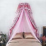 LUSTAR Moskitonetz Doppelbett Canopy Polyester Für Haus Fliegen Insekt Schutz 1 2 M Bis 1 8 M Bett Indoor Dekoration 4-farbig Zu Wählen,Pink-1.8m