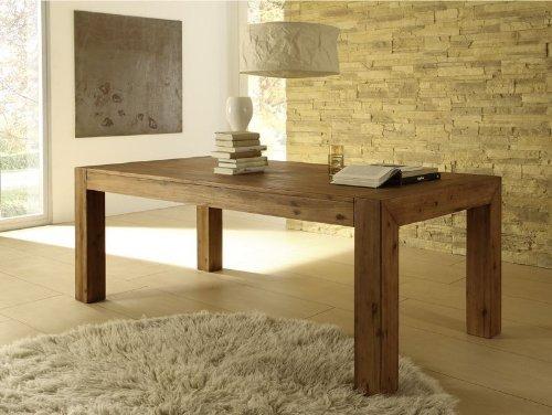 Esstisch Designer Tisch MASSIV ausziehbar 140-180x90 cm Akazie Esszimmertisch