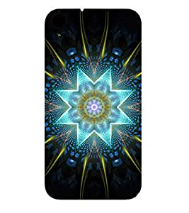 GLOWING STAR AND FLORAL DESIGN PATTERN 3D Hard Polycarbonate Designer Back Case Cover for HTC Desire 830::HTC Desire 830 dual sim