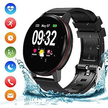 Reloj Inteligente Hombre Mujer Niños, Impermeable IP68 Smartwatch con Monitor de Actividad Pulsómetro y Podómetro Fitness Reloj deportivo para ...
