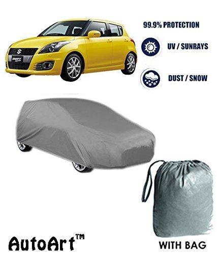 Fabtec Heavy Duty Car Body Cover With Storage Bag Free For Maruti New Swift(Dark Grey)