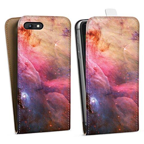 Apple iPhone X Silikon Hülle Case Schutzhülle Galaxy Space LL Ori und der Orion Nebel Downflip Tasche weiß