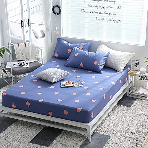 huyiming Verwendet für Bettdecke Baumwolle Einteilige Matratzenschoner Twill gedruckt 1,5 m Simmons Schutzhülle 150 * 200CM
