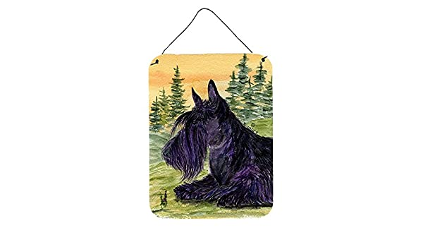 Carolines Treasures SS8511DS1216 Scottish Terrier Aluminium Metal Wall or Door Hanging Prints 16 x 12 Multicolor