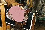 Engel Reitsport Lammfell Sattelsitzbezug western Farbe pink rosa (Sabez 2, ohne Hornausschnitt/Horndurchlass)