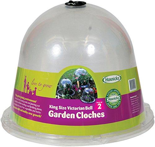 haxnicks-protectores-para-plantas-de-jardin-campana-victoriana-2-unidades