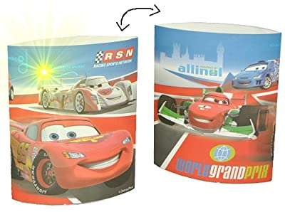 kleine Tischlampe LED Disney Cars - 16 cm hoch Dekolicht Lampe Stehlampe Tischleuchte Kinder Kinderzimmer - Car Lightning McQueen Auto Autos von Kinder-Land auf Lampenhans.de