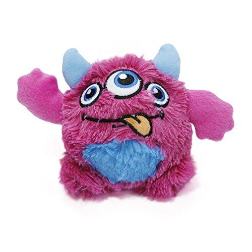 Toypalace24 Quietschball für Hunde im lustigen Monster-Hundeball-Design/Weiches Wurfspielzeug zum apportieren für große & kleine Hunde/Farbe: Rot 1 / Größe nach Wahl