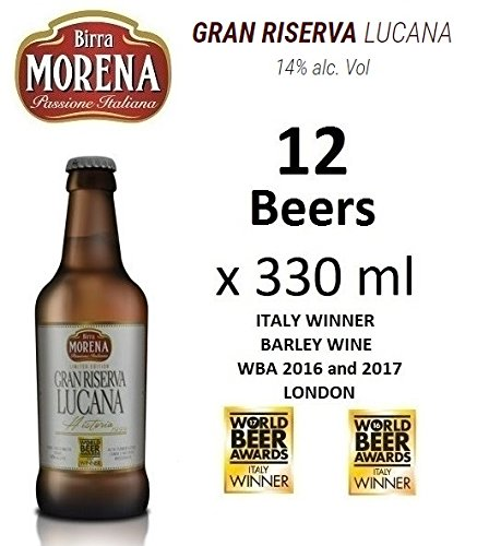 12 X Birra Morena Gran Riserva Lucana 14 % alc vol - ml 330 - Barley Wine - Artigianale - Craft Beer - Italian Beer - Award -Best Gift Events Christmas Easter