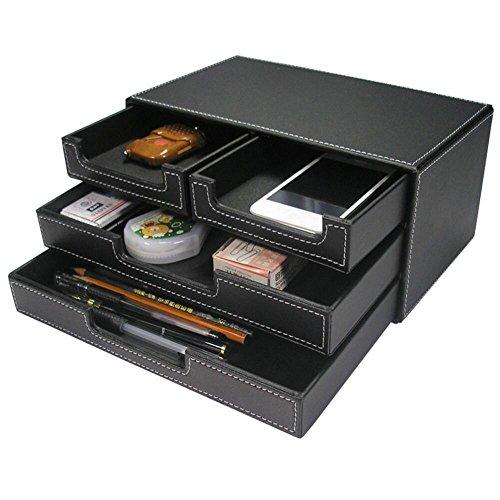 KINGFOM Schwarz Schreibtischorganizer Schreibtisch Ordnungssystem -