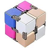 aheadad Descompresión Artefacto Fingertip Square Fidget Magic Blocks Infinity Cube Puzzle Flip Cube Ball Anti Ansiedad Alivio Stress Relief Time Killer Mano Muñeca Twister Juguetes