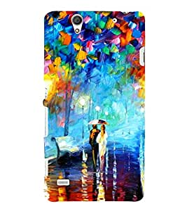 Bright Multi Colour Painting 3D Hard Polycarbonate Designer Back Case Cover for Sony Xperia C4 Dual :: Sony Xperia C4 Dual E5333 E5343 E5363