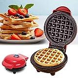 rcraftn Mini Macchina per tortiera elettrica 350W per Waffle per Uso Domestico per frittelle di Biscotti