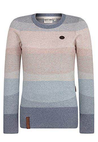 Naketano Damen Strickjacke Global Asozial Am Blasen Pullover, Gr.-Small, ficker blugry mel striped