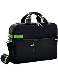 """Leitz 60160095 Complete 15.6"""" Laptop Smart Traveller, schwarz Businesstasche für all Ihre Mobilgeräte und A4 Dokumente. Mit Tragegriffen Schultergurt und Trolleybefestigung"""