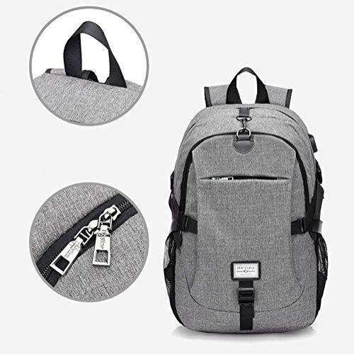 Rucksack Multifunktions-Sport Die USB-Schnittstelle des Mannes Portable Leisure Outdoor Rucksack purple