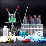 SMBYQ Kit d'instruments en Verre pour Laboratoire de Chimie - Distillation Verre Appareil avec Bouteilles et gobelets