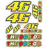 1Hoja Pegatinas de (8el Doctor Pegatina de número de Valentino Rossi VR 46Yamaha Moto Cbr R1R6GSX R Fireblade 2010–2011R...