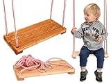 Plana madera cuerda columpio para niños, los niños de interior / al aire libre (barnizado)