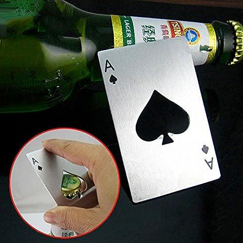 Ouvre bouteilles bouteille Carte As carreau Poker Bar Bouchon Bouchon Décapsuleur